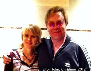 Dr Susan Jamieson and Sir Elton John