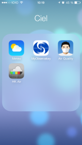 Recommended mobile application for Air Pollution HK