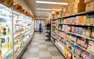 Processed foods are found in the interior aisles of supermarkets